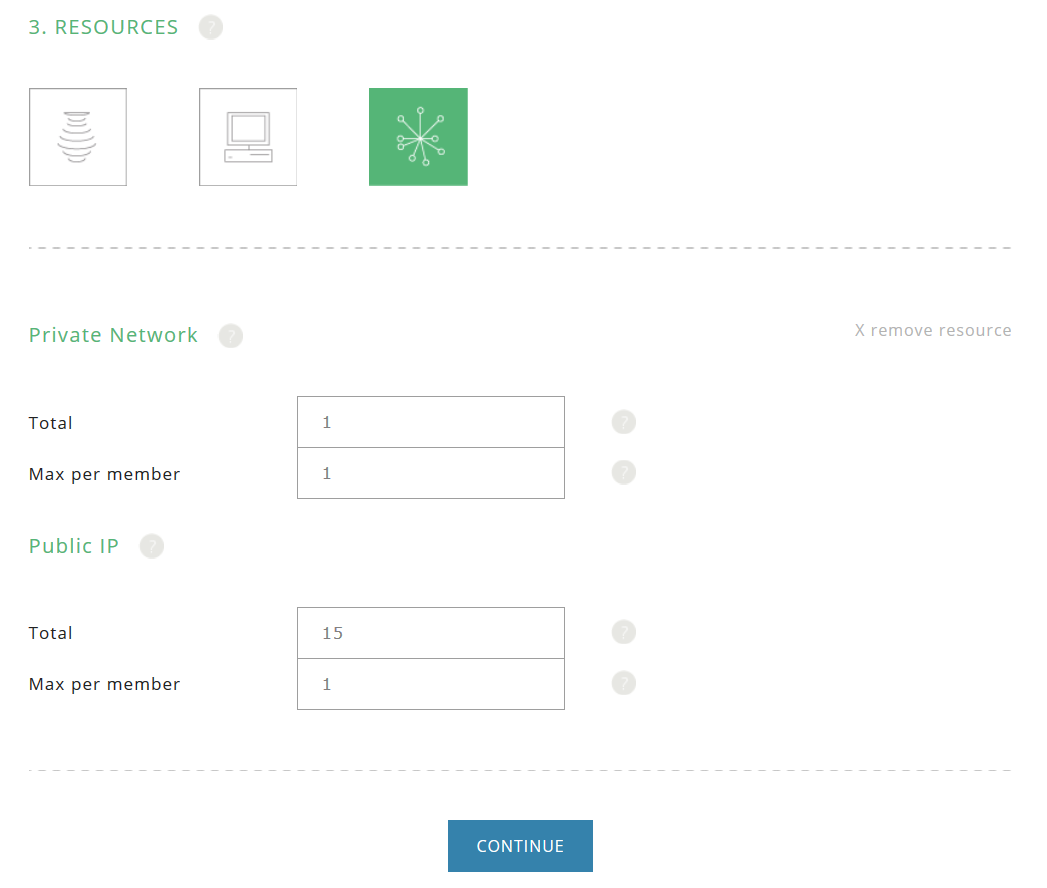 userguide project_membership_options_network